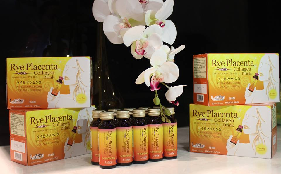 Collagen Nhật Bản Rye Placenta with drink